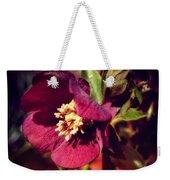 Burgundy Hellebore Flower Weekender Tote Bag