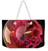Burgundy Orchids In A Glass Globe Weekender Tote Bag