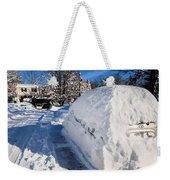 Buried In Snow Weekender Tote Bag