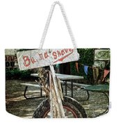 Burma Shave Sign Weekender Tote Bag by RicardMN Photography