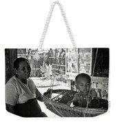 Burmese Grandmother And Grandchild Weekender Tote Bag by RicardMN Photography