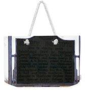 Burney Institute Historical Sign Weekender Tote Bag