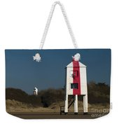 Burnham-on-sea Lighthouses Weekender Tote Bag