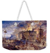 Burning Temple Of The Winds, 1856 Weekender Tote Bag