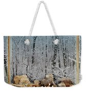 Burning Yule Log Weekender Tote Bag