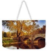 Burnside Bridge At Autumn Sunset Weekender Tote Bag