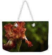 Burnt Orange Iris Weekender Tote Bag