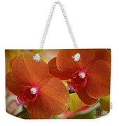 Burnt Orange Orchids Weekender Tote Bag