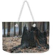 Burnt Tree Trunk Weekender Tote Bag