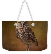 Burrowing Owl Portrait Weekender Tote Bag by Kim Hojnacki