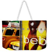 Bus Poster With Taxis - New York Weekender Tote Bag