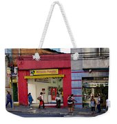 Bus Stop On Rua Teodoro Sampaio Weekender Tote Bag