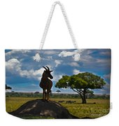 Bushbuck Guard Of The Mound   Weekender Tote Bag
