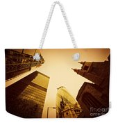 Business Architecture Skyscrapers In London Uk Golden Tint Weekender Tote Bag