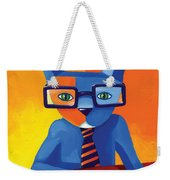 Business Cat Weekender Tote Bag