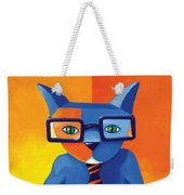 Business Cat Weekender Tote Bag by Mike Lawrence