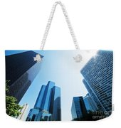 Business Skyscrapers Weekender Tote Bag by Michal Bednarek