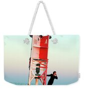 Business Woman On A Buoy Weekender Tote Bag