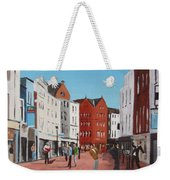 Busking On Grafton Street Weekender Tote Bag