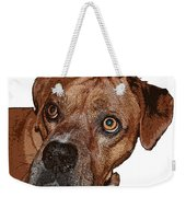 Buster Brown The Boxer Weekender Tote Bag by Sandra Clark