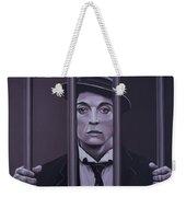 Buster Keaton Painting Weekender Tote Bag