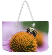 Busy Bee On Cone Flower Weekender Tote Bag