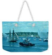 Busy Halifax Harbor During The Parade Of Sails Weekender Tote Bag