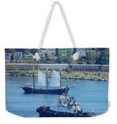 Busy Harbor Weekender Tote Bag