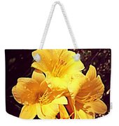 Butter Yellow Lilly Cluster Weekender Tote Bag