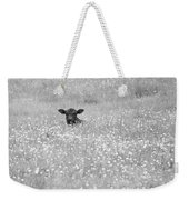 Buttercup In Black-and-white Weekender Tote Bag by JD Grimes