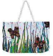 Butterflies And Flowers Weekender Tote Bag