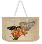 Butterflies Snd Flowers Weekender Tote Bag