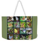 Butterflies Squares Collage Weekender Tote Bag