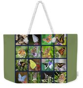 Butterflies Squares Collage Weekender Tote Bag