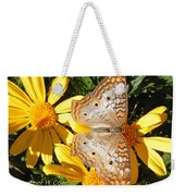 Butterfly And Daisies Weekender Tote Bag