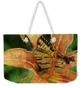 Butterfly And Lily Weekender Tote Bag