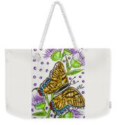 Butterfly And Thistles Weekender Tote Bag
