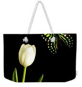 Butterfly And Tulip Weekender Tote Bag