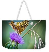 Butterfly Beauty And Little Friend Weekender Tote Bag