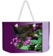 Butterfly Black 16 By 20 Weekender Tote Bag