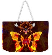 Butterfly By Design Abstract Symbols Artwork Weekender Tote Bag