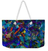 Butterfly Collage Blue Weekender Tote Bag