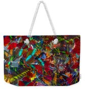 Butterfly Collage Red Weekender Tote Bag