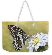 Butterfly Food At Dahlia Flower Weekender Tote Bag