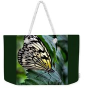 Butterfly - Green Leaf Weekender Tote Bag