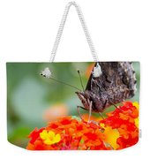 Butterfly Hanging Out On Wildflowers Weekender Tote Bag