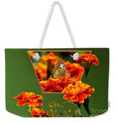 Butterfly In A Sea Of Orange Floral 02 Weekender Tote Bag