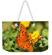 Butterfly In The Glades - Gulf Fritillary Weekender Tote Bag