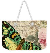 Butterfly Kisses-b Weekender Tote Bag