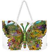 Butterfly Meadow Green Weekender Tote Bag